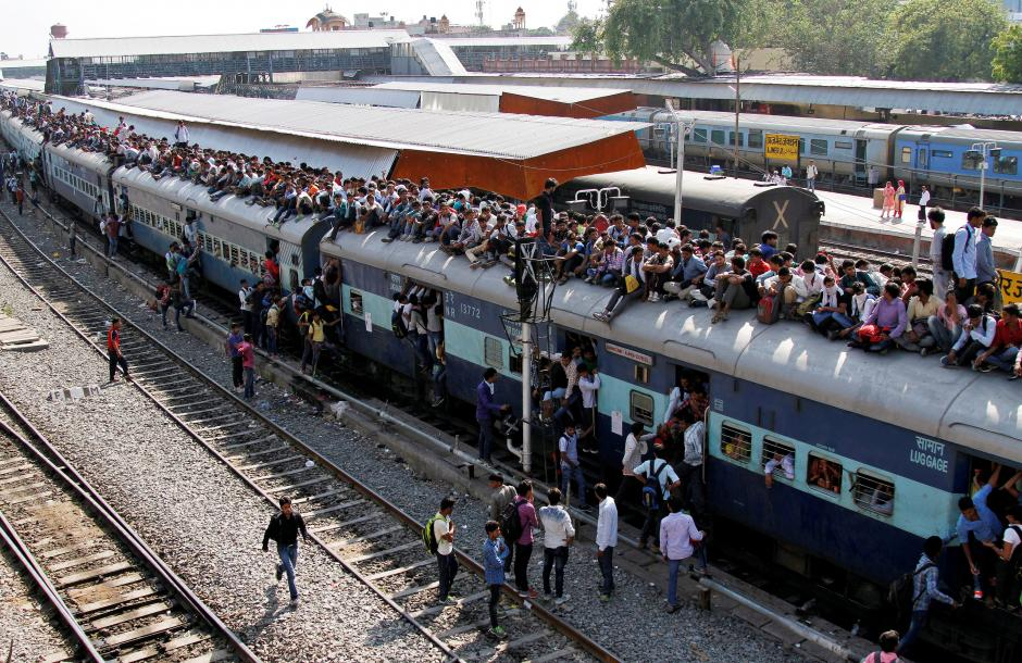 Railway Minster claims Indian trains improve  in punctuality