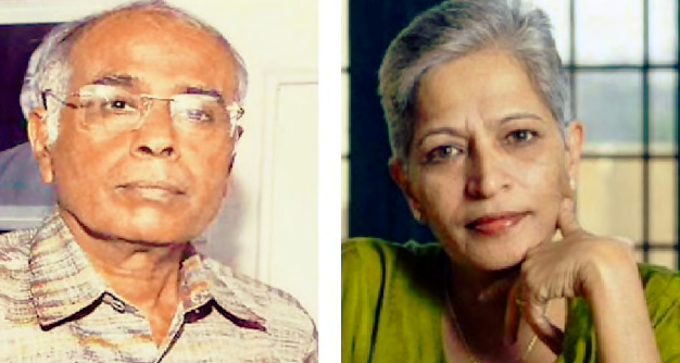 Dabholkar , Gauri Lankesh murderers links found : CBI