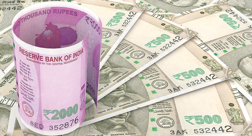 Rupees against Dollars in 6 days 165 paise down