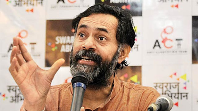 Yogendra yadav arrested for meeting farmers claim TN  is under Police Raj
