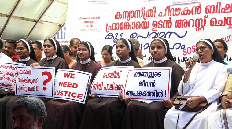 Kerala Nuns in street for second day to arrest bishop