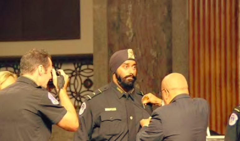 First sikh retaining his culture inducted in to Security detail of USA president