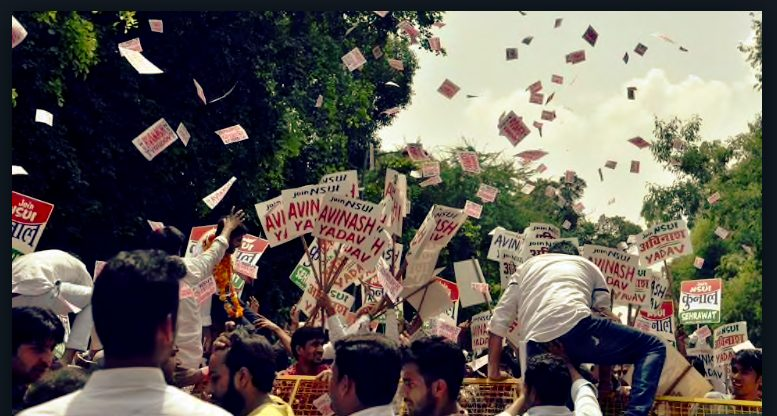 ABVP win DUSU using  EVMs not from EC but private