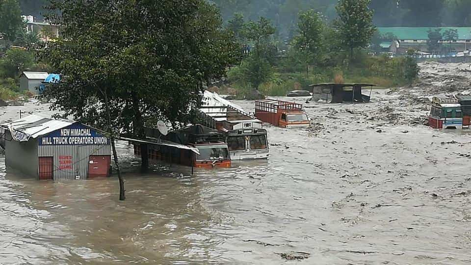 Himachal on high alert -floods cut off major roads