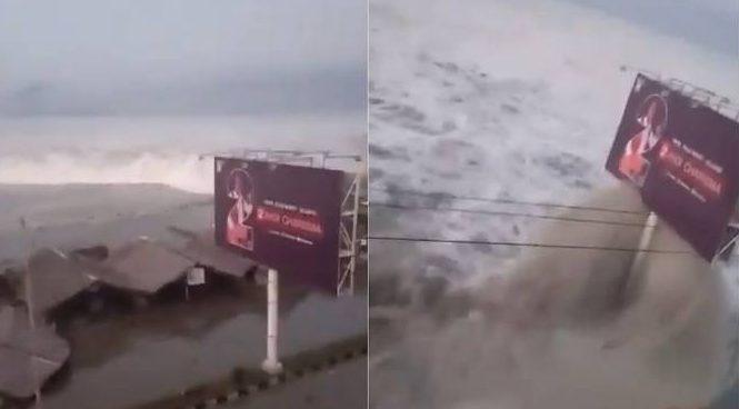 Tsunami 6.6ft waves attacks  Indonesia's Palu after 7.5  earthquake