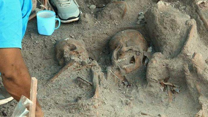Mass burial evidence evinced in Mannar , Srilanka