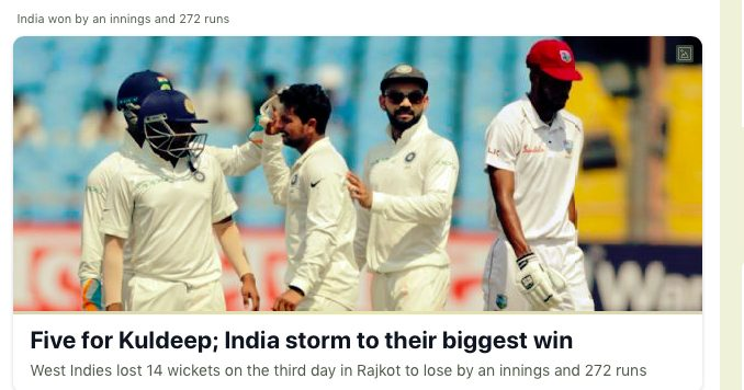 West Indies Cricketers succumbed with out fight to India