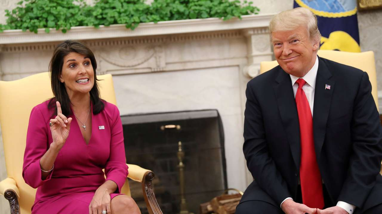 US Ambassador to UN Nikki Haley quits