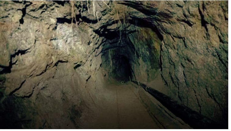 Tunnel with rail and Solar System  found in Mexico   California  border