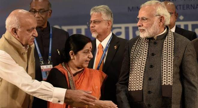 Smriti Spoken but Sushma Still Silent on Union Minister  Akbar Sex Scams