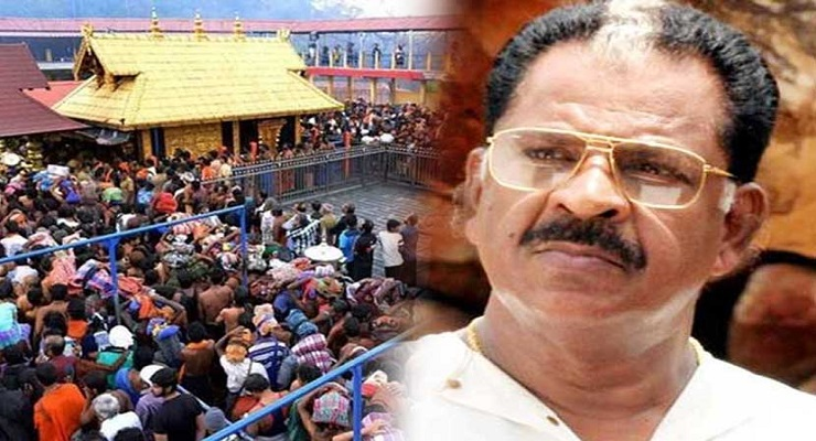 Women entering Sabarimala temple has to be ripped  to 2 pieces  says actor