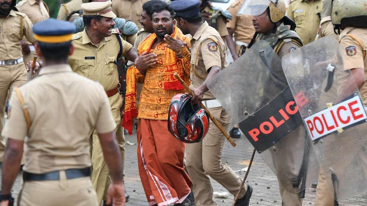 Sabarimala violence RSS-BJP behind attack confirms  Kerala minister