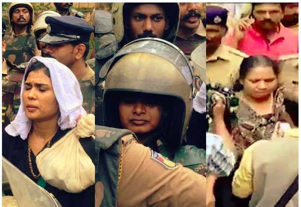 Three women who utmost broken the ceiling  on the 3rd day : Sabarimala