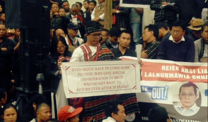 Protests for Mizoram CEO's removal unabated