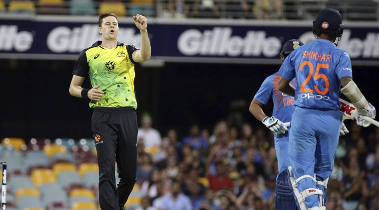 India lost to  Australia in  1st T20 by 4 Runs