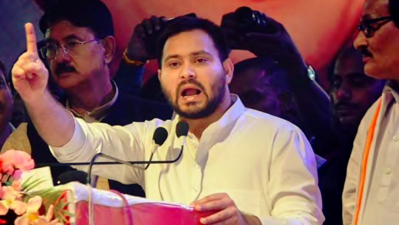 Tejashwi Yadav allege his bedroom spied and accuse JDS-BJP Bihar Govt