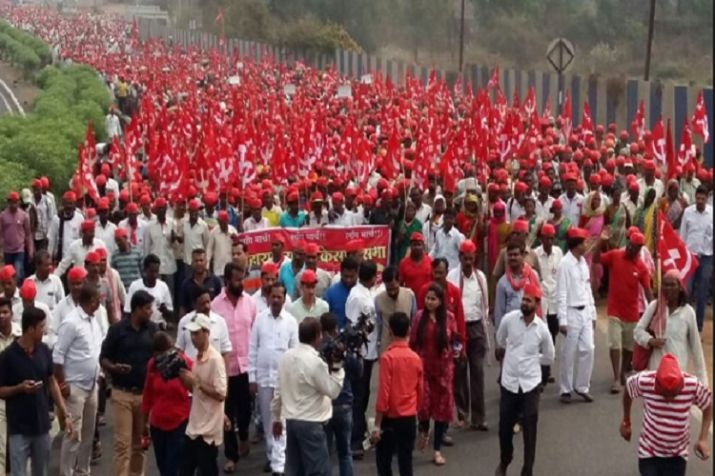 Sea of Farmers march in Delhi demanding loan waiver, fair price for produce