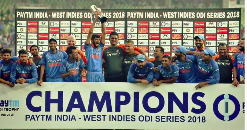 Indian team clinch the five-match series 3-1