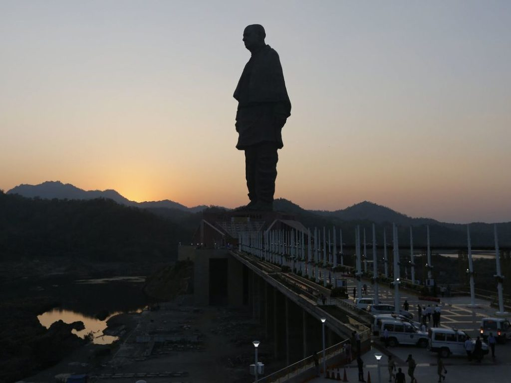 Gujarat Statue of Unity elevators  hit for the third time in four days