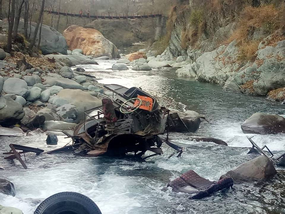 Bus Falls Into Gorge In JK  Poonch District kills 13