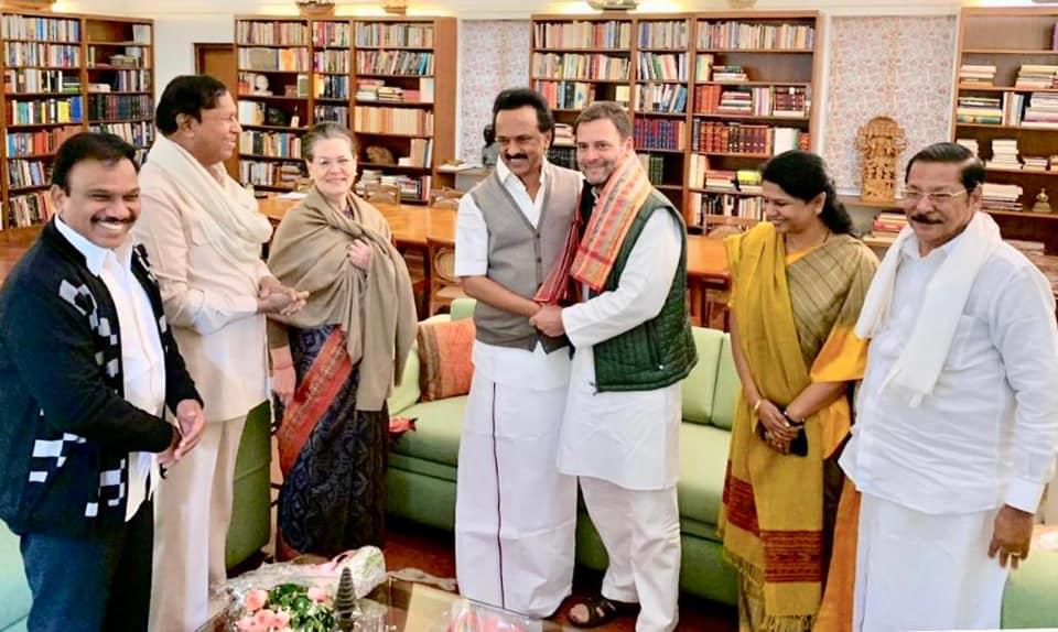 Stalin met Sonia, Rahul ahead of Mega alliance meeting on Dec 10