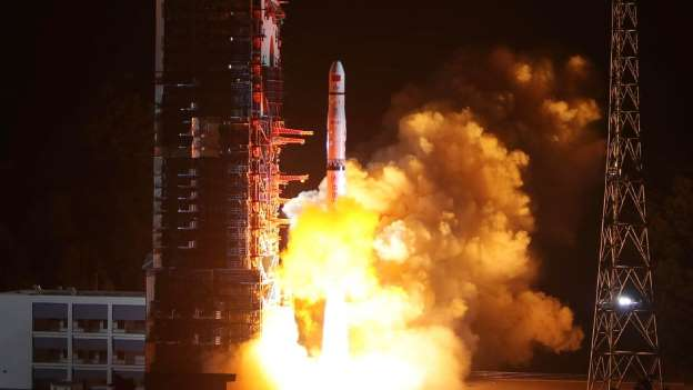 China's successfully launches mission  lunar probe