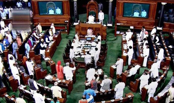 LS RS  witness protest from Cong DMK TDP  Shiv Sena, ADMK