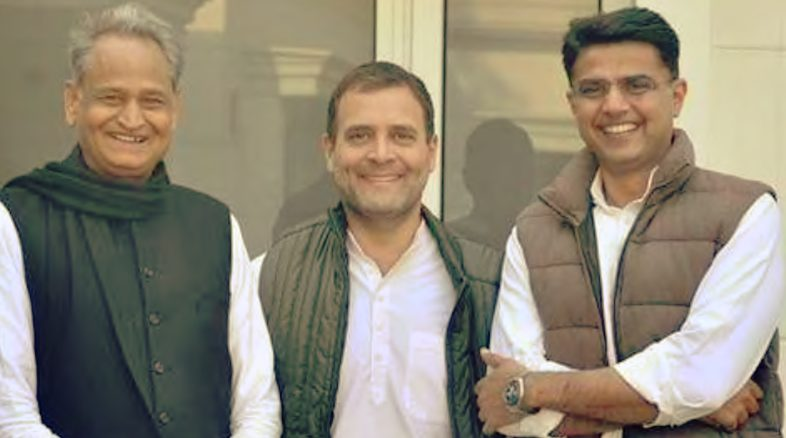 Congress resolved Rajasthan Crisis  and made Ashok Gehlot as CM and Sachin as Dy. CM
