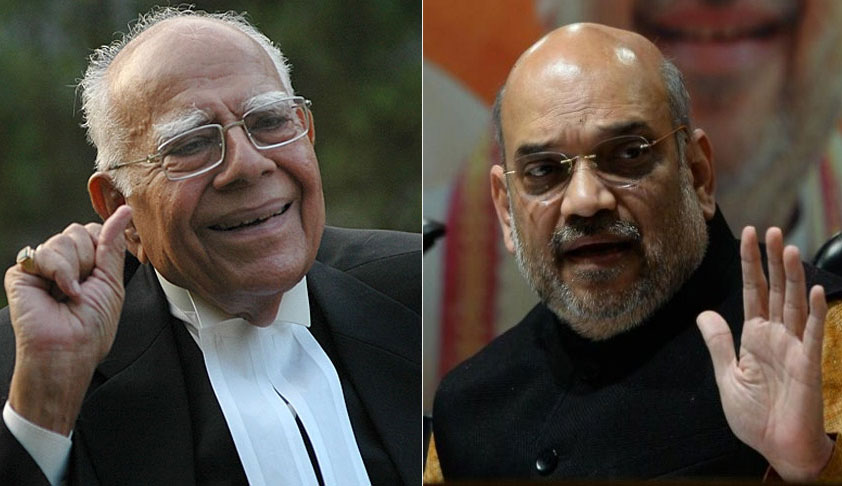 Amit Shah met  Jethmalani to ensure  withdrawal of case
