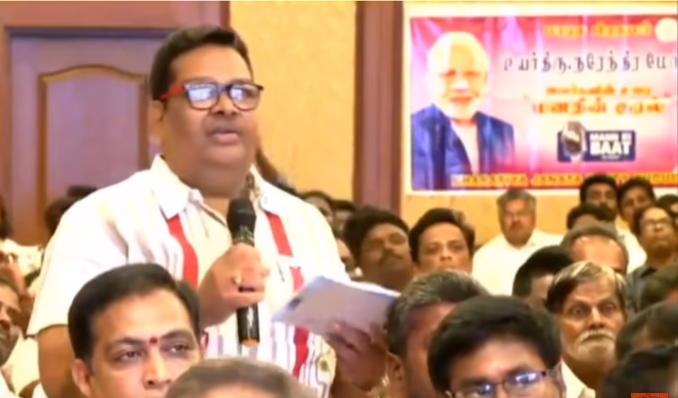 BJP home picked worker's querry  made  Modi Shell shocked