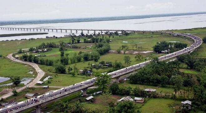 21 years , 5800 Crores , 4.94 kms Bogibeel Bridge in Assam dedicated today