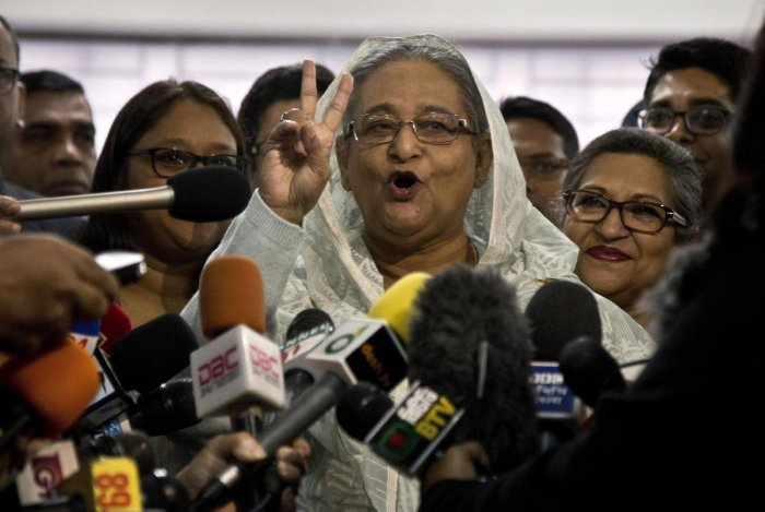 Bangladesh General Election Results Clean Sweep by  Hasina