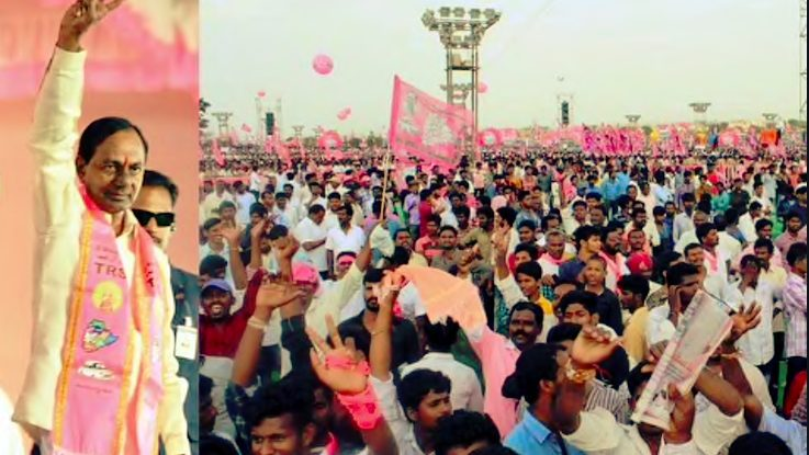 TRS decimated Congress and TDP in Telangana and made landslide victory