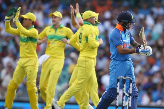 Australia beats India by 34 runs in the first ODI at the SCG