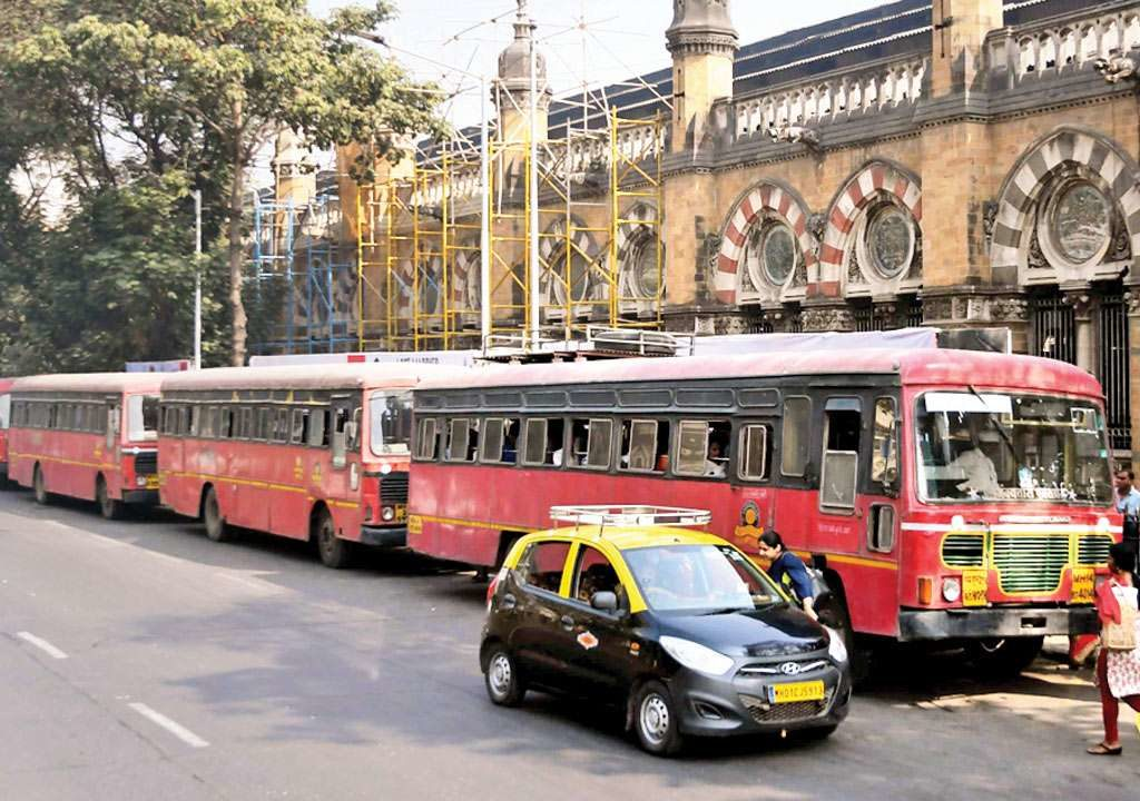 BUS strike in Mumbai  continued on  6th day