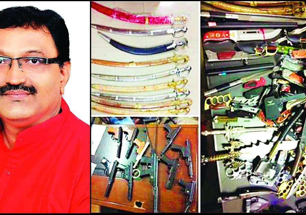 BJP functionary  Dombivli businessman arrested  for possession of  170 weapons Shocks neighbours