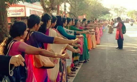 Lakhs of women joined hands for 620 Km in Support of women entry to Sabarimala