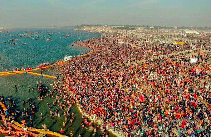 Millions hindu visits  Kumbh Mela festival in Uttar Pradesh