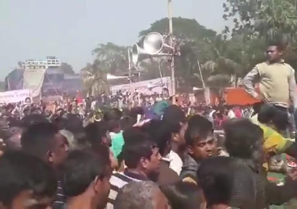 Pandemonium prevailed at Modi Thakurpur (WB) meeting Several injured