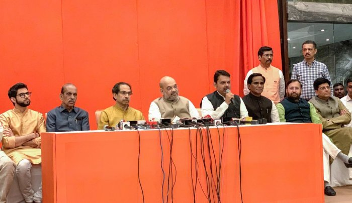 2019 Election : Jr. Thackeray succeeded  in making  BJP to accept their Combo deal