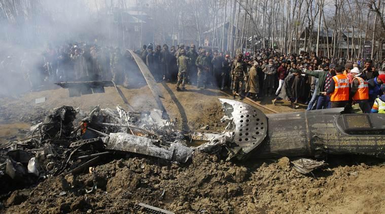 6 Airforce officers and a civilian killed : IAF Chopper crash in Kashmir