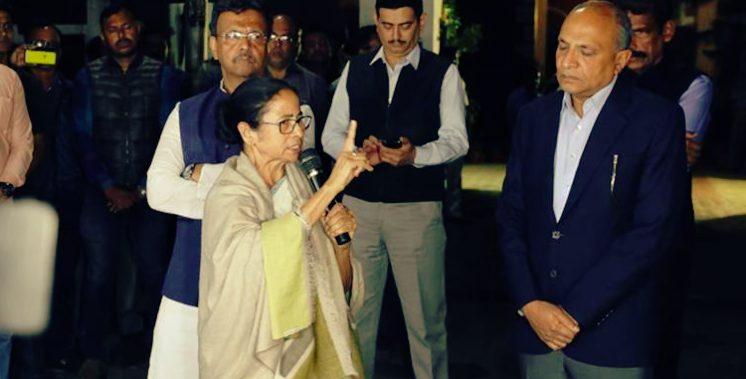 WB Police stops CBI officials , Mamata  launches Satyagraha in Kolkata Metro