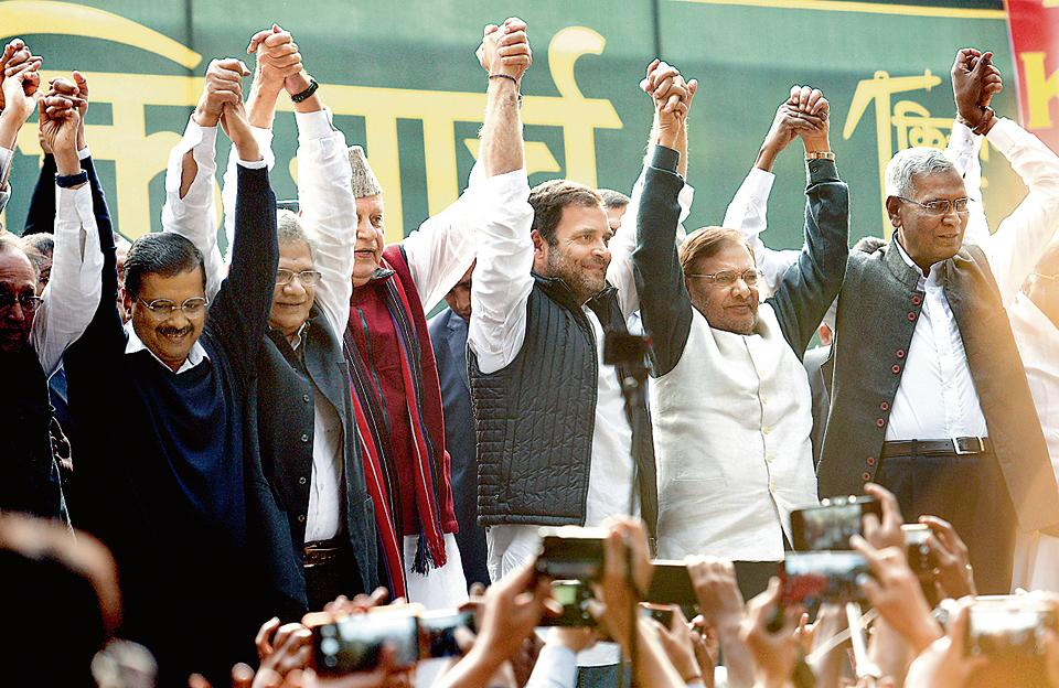 Kejriwal implied  revival of  Congress AAP alliance to  safe India  from BJP Danger