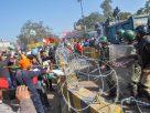 Farmers agitation gains momentum seizes  Delhi border push  Modi's BJP  Government bend