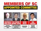 Supreme Court appointed committee member recuse cause embarrassment to ruling benches