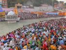 Millions ignore covid19 safety norms and took holy dip in Ganga